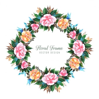 Wedding decorative flower card design