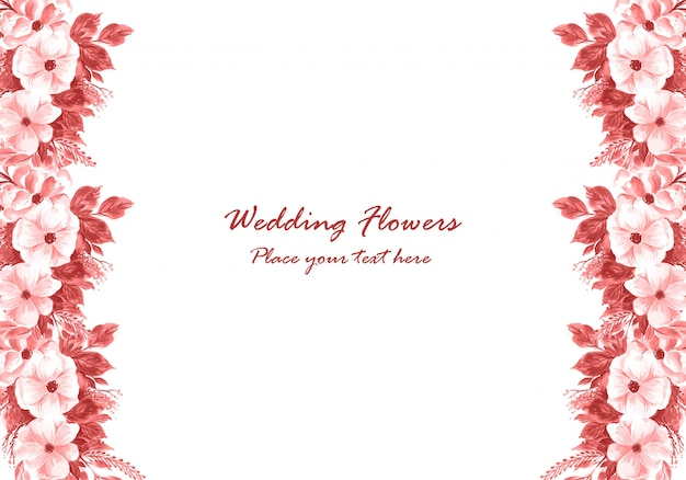 Wedding decorative flowers frame