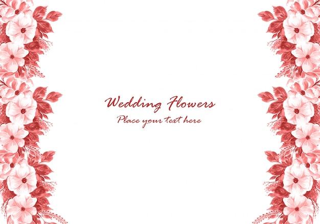 Wedding decorative flowers frame