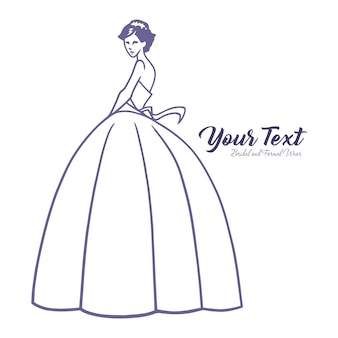 Wedding dress boutique logo template