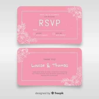 Wedding enclosure card template