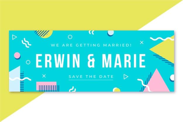 Свадебный шаблон обложки facebook