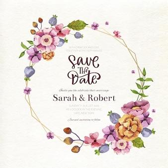 Wedding floral frame concept