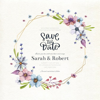 Wedding floral frame concept