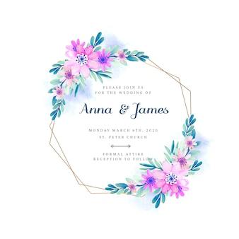 Invito cornice floreale di nozze