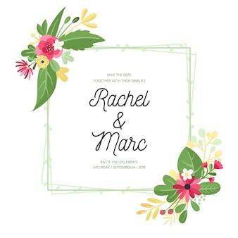 Cornice floreale per matrimoni