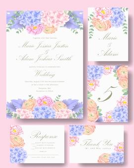Wedding floral invitation