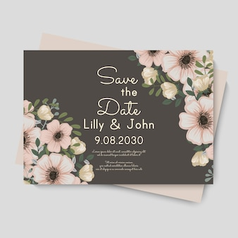 Wedding floral vector template