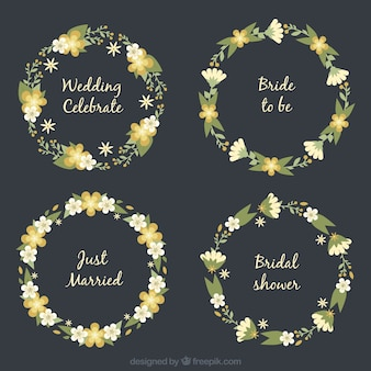 Wedding floral wreath collection