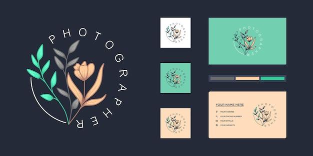 Wedding florist logo minimalist templates and photography.