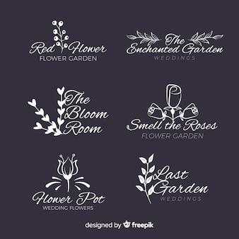 Wedding florist logo template collection