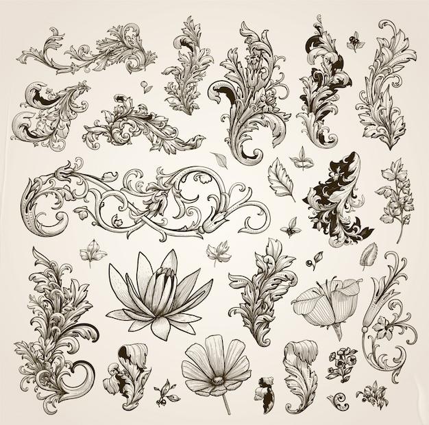 결혼식 번성 자연 장식 패턴