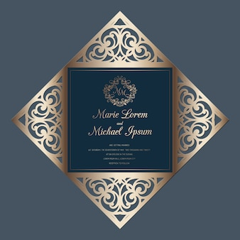 Свадебные четыре раза шаблон лазерной резки карты, подходит для поздравительных открыток, приглашений, меню.