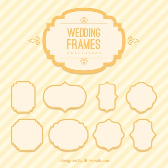Wedding frames in vintage style
