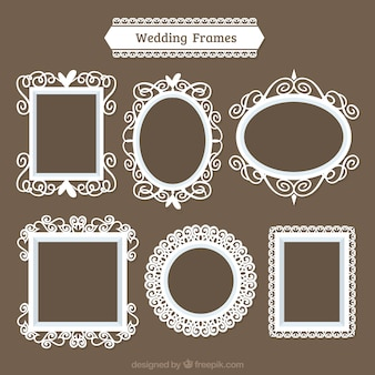 Wedding frames with different designs