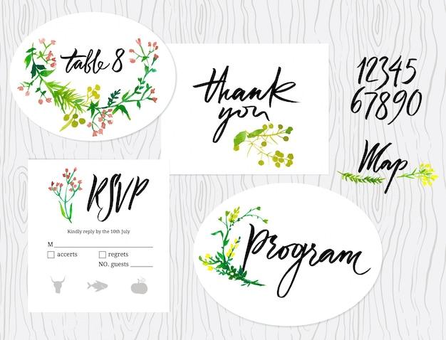 結婚式のグラフィックセット