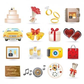 Wedding icon collection