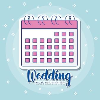 Wedding icons design