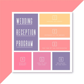 결혼식 피로연 프로그램 광장 전단지 서식 파일