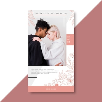 Wedding instagram story template