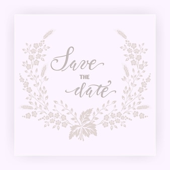 花の結婚式の招待状とアナウンスカード