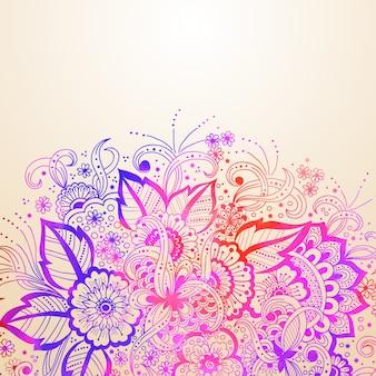 アラビア風の飾りと結婚式の招待状と発表カード。アラベスク模様。