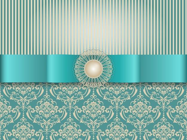 Свадебное приглашение и карточка с винтажным фоном