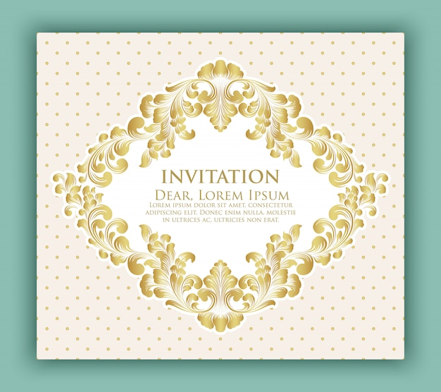 Wedding invitation and announcement card with floral design