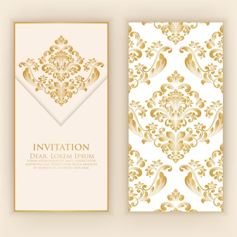 Wedding invitation and announcement card