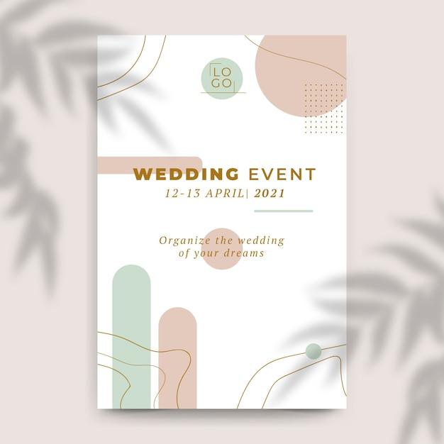 Sfondo di invito a nozze