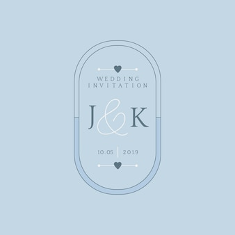 Wedding invitation badge design vector