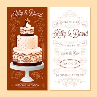 Wedding invitation banners set