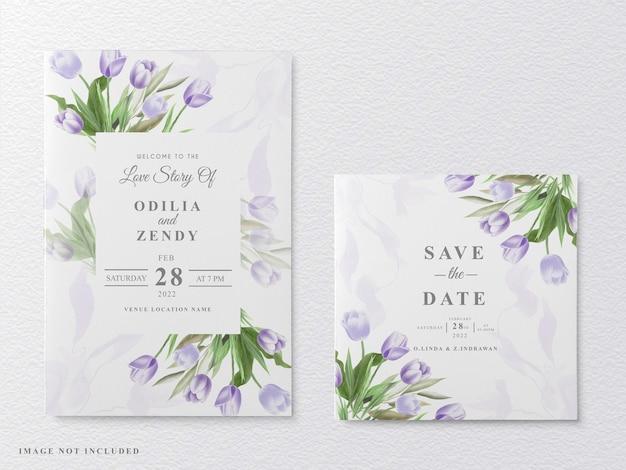 Свадебное приглашение красивая цветочная акварель