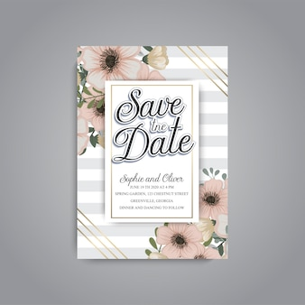 Wedding invitation. beautiful flowers. greeting card. frame.