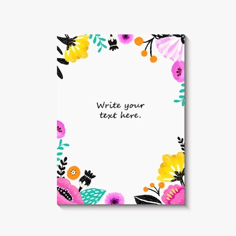 Wedding invitation, or birthday card , floral invite, modern card.