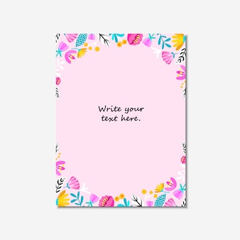 Wedding invitation, or birthday card , floral invite, modern card