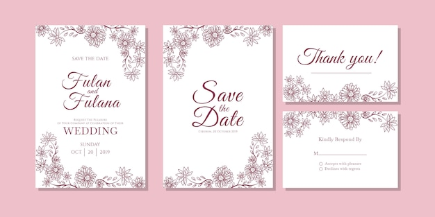 Wedding Invitation Card Sample: Invitation Vectors, Photos And PSD Files