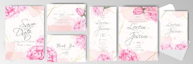 Wedding invitation card bundle template