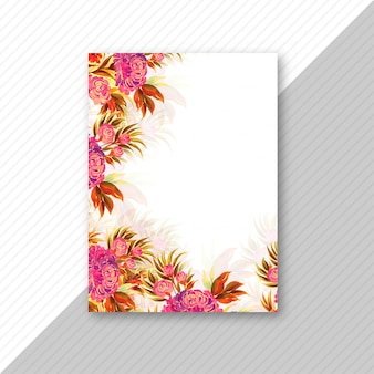 Wedding invitation card colorful floral template