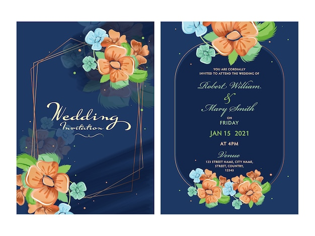 Wedding invitation card concept