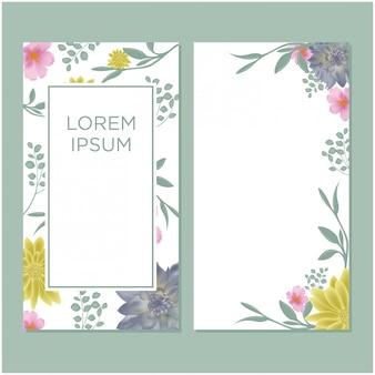 Наборы свадебных пригласительных билетов с цветами
