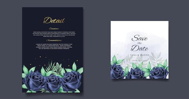 Свадебное приглашение с цветочным дизайном