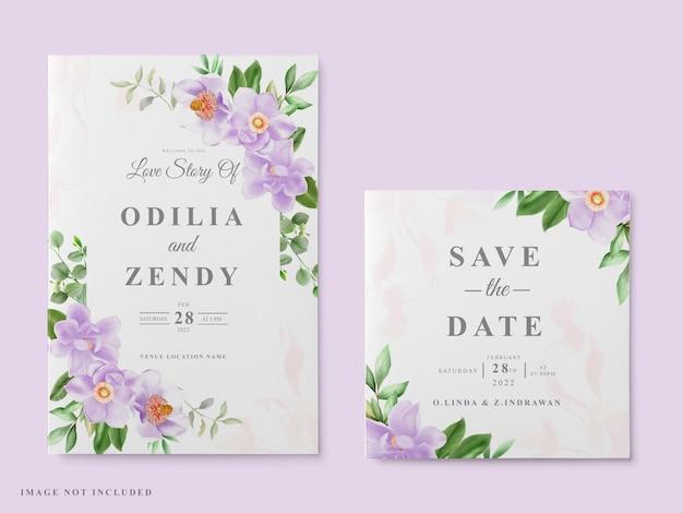 Свадебный пригласительный билет магнолия дизайн