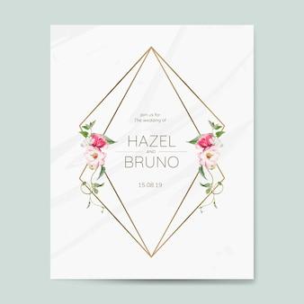 Wedding invitation card mockup vector