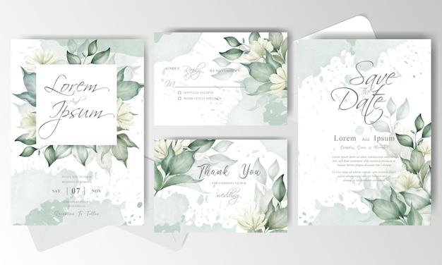 결혼식 초대 카드 세트 템플릿