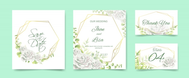 Wedding invitation card set
