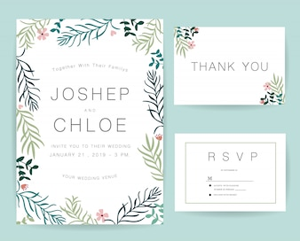 Rsvp vectors photos and psd files free download wedding invitation card set stopboris Gallery