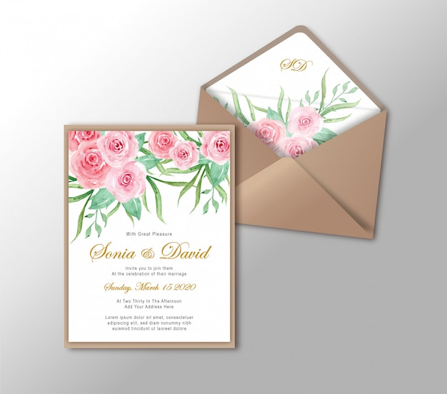Wedding invitation card stationery gold