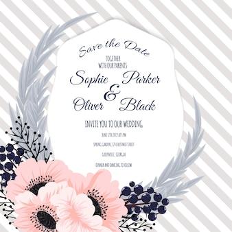 결혼식 초대 카드 스위트 꽃 templates.vector 일러스트