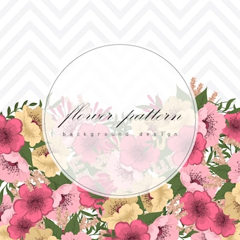 Wedding invitation card suite with flowers